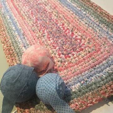 trapillo alfombra rectangular aprende como hacer alfombra trapillo rectangular paso a paso