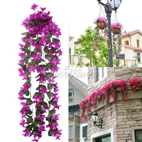 artificial garden flowers artificial flowers hanging orchid flower for