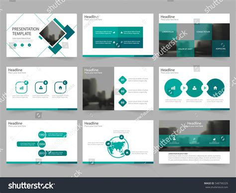 video templates for advertising green square abstract presentation templates infographic