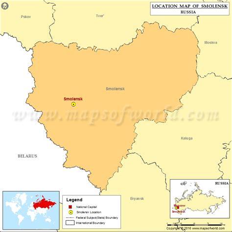 russia map smolensk where is smolensk location of smolensk in russia map