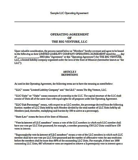 23 Llc Operating Agreement Template California Llc Operating Agreement Template