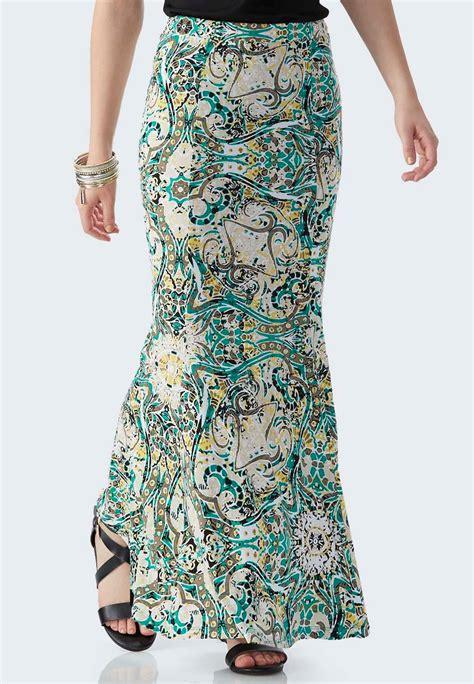 tropical circus mermaid maxi skirt plus maxi cato fashions
