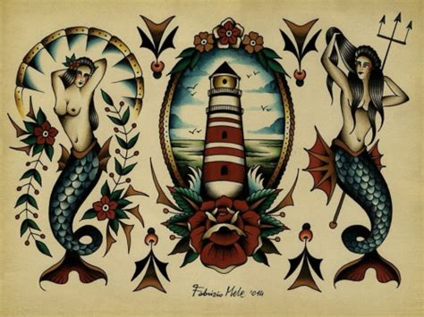 traditional tattoo designs tumblr mermaid traditional more odds and ends