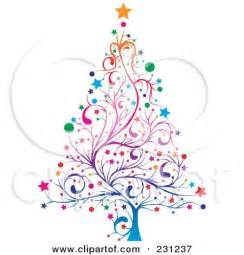 royalty free rf clipart illustration colorful floral christmas tree milsiart 231237