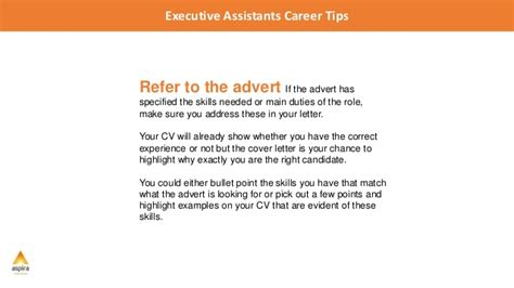 Winning Cover Letter For Administrative Assistant Executive Assistant Career Tips 5 Tips For Writing A