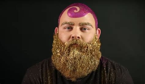 you can now decorate your hipster beard for christmas glitter beard tutorial makes every man into magical beast