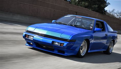 chrysler conquest stanced car 1982 to 1988 mitsubishi starion 89 quot stanced