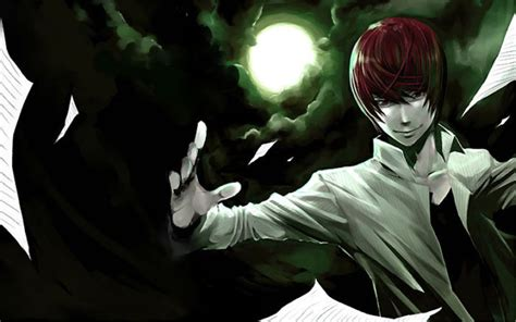 wallpaper anime death note death note anime characters paint desktop widescreen hd