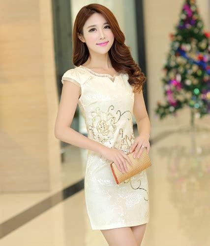 Cheongsam Dress Import cheongsam dress import ds4099 gold tamochi toko baju