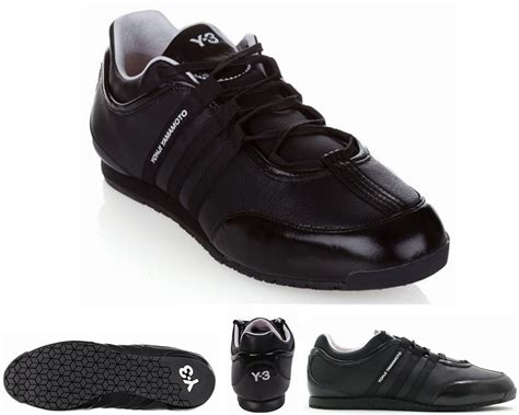 Y3 Shoes Black adidas y3 yohji yamamoto boxing classic ll black leather trainers youth mens shoes eage0793 no