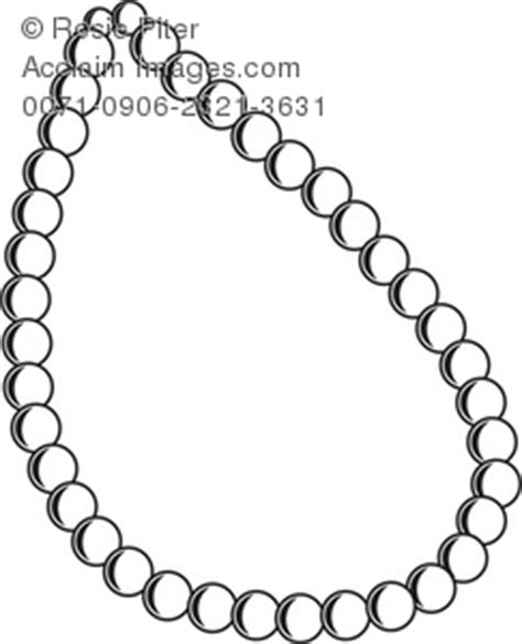 Attractive Christmas Tree Necklace #2: Necklace-clipart-0071-0906-2321-3631_the_outline_pearl_necklace.jpg