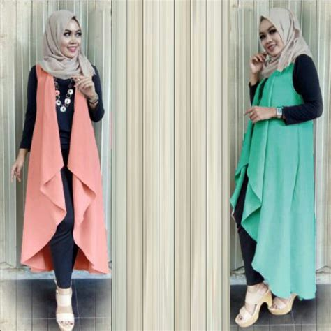 Setelan Baju Fashion baju fashion setelan muslim vest modis terbaru