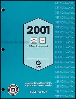 2002 express savana bi fuel repair shop manual supplement 2001 express savana bi fuel repair shop manual original supplement
