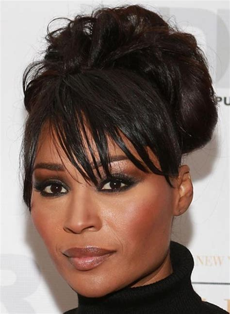 soft updo medium hair with bangs 51 easy updos for short hair to do yourself