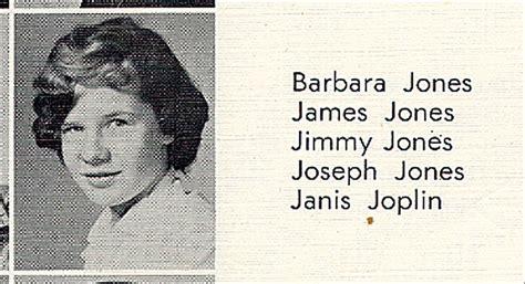 lot detail janis joplin  high school yearbook