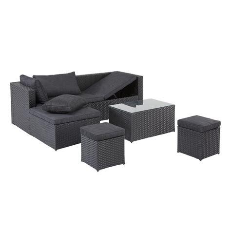 garten lounge set garten lounge set 4 teilig schwarz jysk