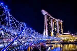 City Light Events Helix Bridge Amp Marina Bay Sands Singapore Singapore