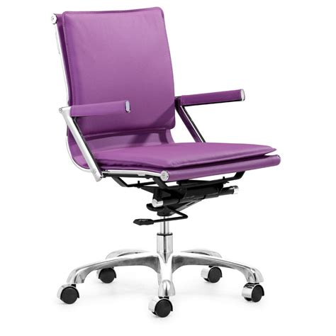 purple office chair furniture corner computer desk with equipment storage and