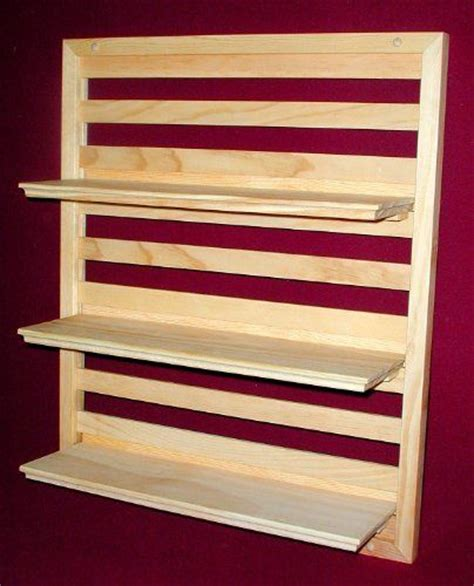 wood wall shelf 20 quot wide x 24 quot high with three 18