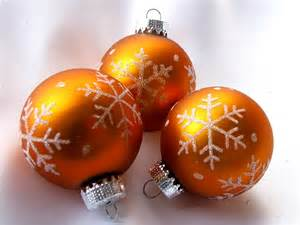 burnt orange christmas snowflake ornaments set of 3