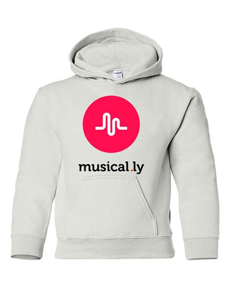 Hoodie Musical Ly musical ly graphic white hoodie sweatshirt youth size s m l xl