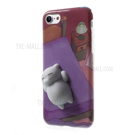 For Iphone 7 Squishy Cat Squeeze Soft Silicone C Limited squishy 3d soft silicone cat lying in bed squish tpu for iphone 7 tvc mall