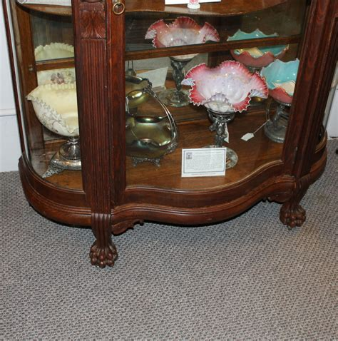 oak curio cabinets with curved glass bargain john s antiques 187 blog archive antique curved