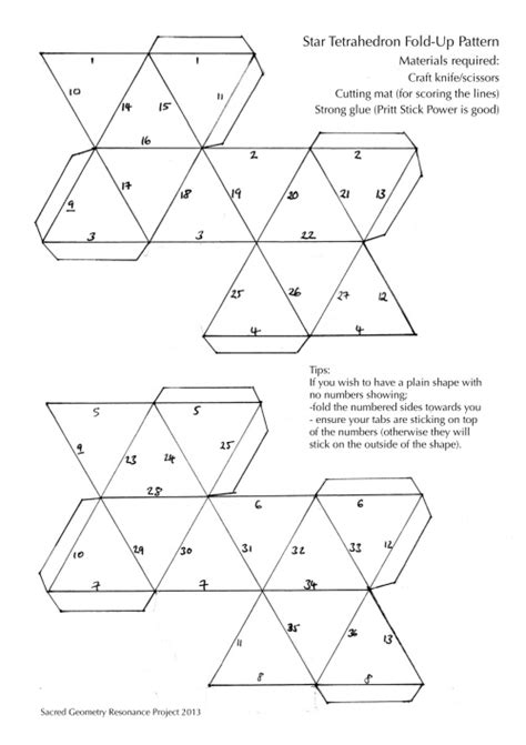 tetrahedron template tetrahedron cut out template images