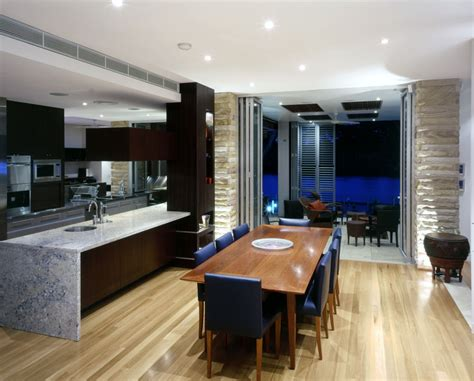 kitchen with dining room designs modern kitchen and dining space combination get the best