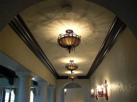Mediterranean Light Fixtures Corridor Crown Molding And Light Fixtures