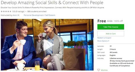 udemy coupon develop amazing social skills connect