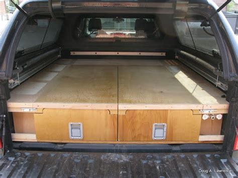 truck bed drawers plans latest project truck drawers sleeping platform
