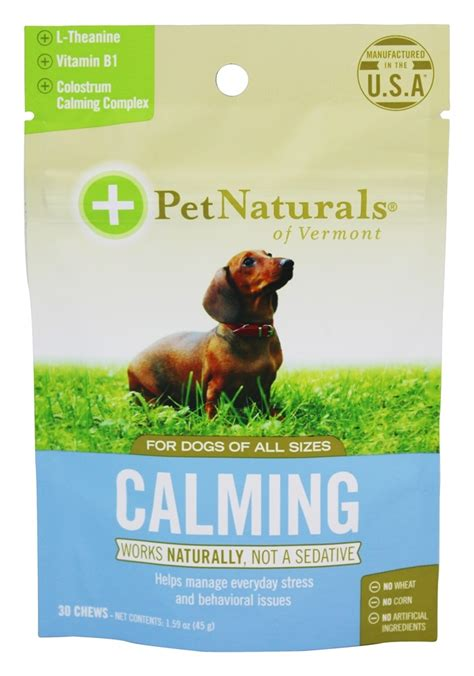calming treats for dogs buy pet naturals of vermont calming treats for dogs of all sizes 30 chew s at