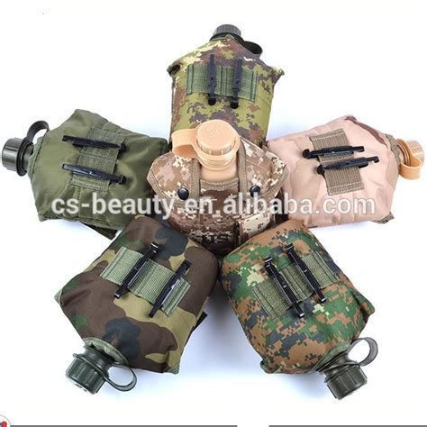 Useful Commemorative Us Army Plastic Aluminum Canvas Cover Black cs commemorative plastic attack canteen water bottle aluminum lunch box cup canvas