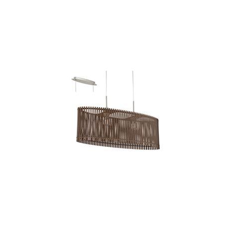 Brown Ceiling Light Sendero 2 Light Ceiling Pendant Brown Wood 96201