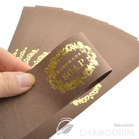 100sheet luxury gold feel labels for handmade soap
