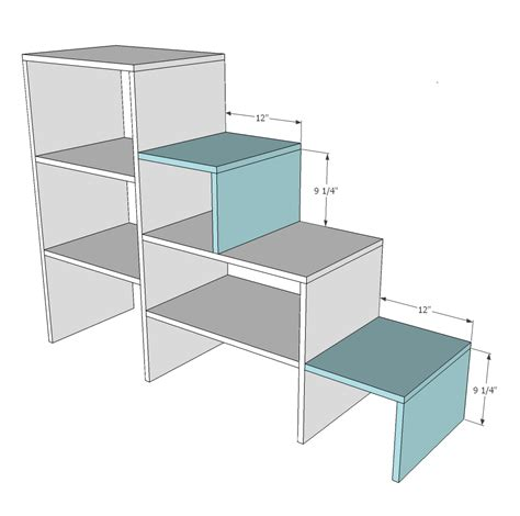 Bunk Bed Stairs Plans White Sweet Pea Garden Bunk Bed Storage Stairs Diy Projects