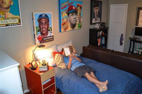boys in bedroom boy s baseball inspired bedroom contemporary