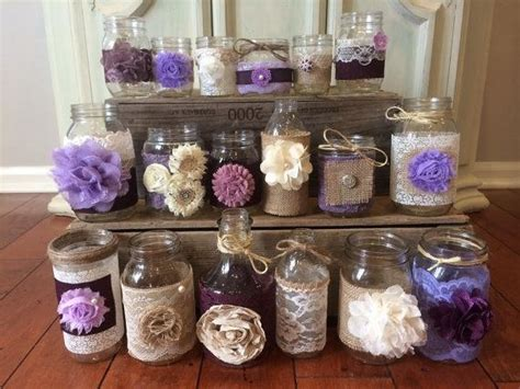 Lilac And Purple Wedding Decorations by 17 Best Ideas About Lace Jars On Lace
