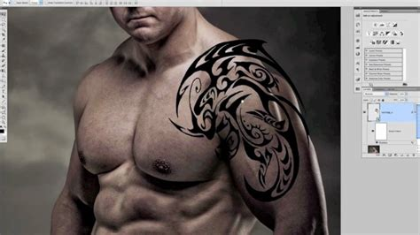 photoshop tutorial add a pain free tattoo mov youtube
