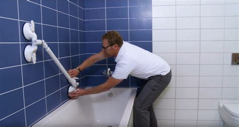 bathtub handrails handicapped mobeli provides practical support to the elderly and the