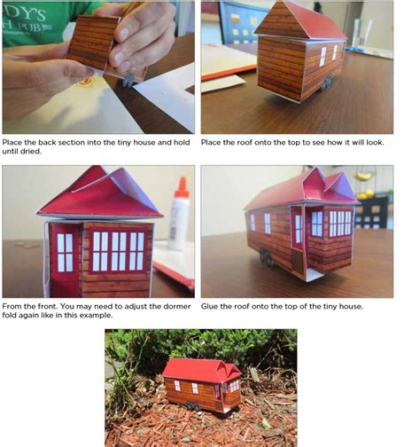 tiny house models tiny house paper model the tiny life