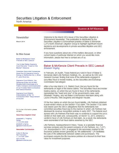 securities litigation enforcement insights