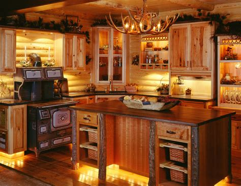 Log cabin kitchens traditional kitchen