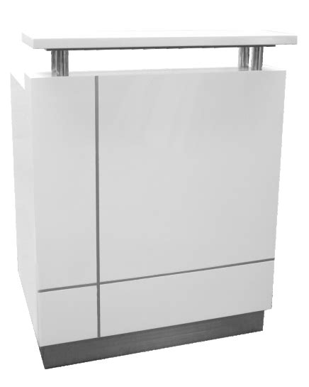 receptionist stand up reception counter white ioffice
