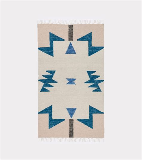 supply co rug ferm living kelim rug blue triangles from sunday supply co garmentory