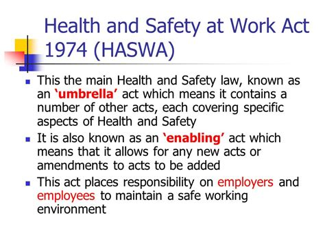 health and safety at work act 1974 section 2 health and safety legislation ppt video online download