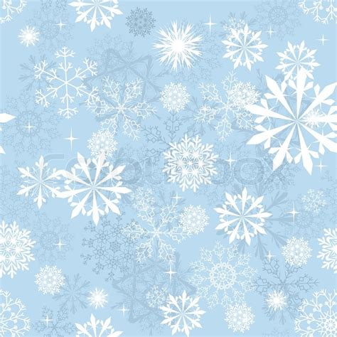Seamless Snowflakes Background For Winter And Christmas Winter Themed Backgrounds