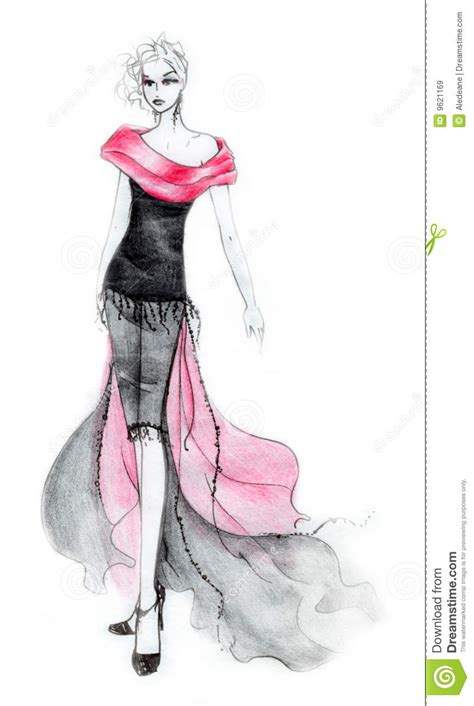 80s Sketches by 80 S Style Fashion Illustration Royalty Free Stock Images