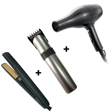 Hair Dryer And Trimmer Combo buy combo of rechargeable hair trimmer straightener hair dryer black at best price